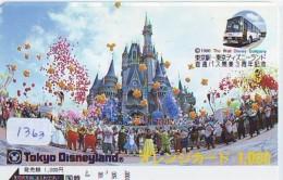 Carte Prépayée Japon - DISNEY - Tokyo Disneyland (1363) Japan Prepaid - Disney