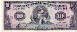 Ecuador P.109  10 Sucres 1977 Unc - Ecuador