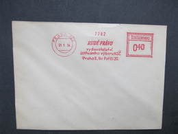 BRIEF Praha022 Rude Pravo 1954 Frankotype Freistempel Postfreistempel /// N2835 - Tschechoslowakei/CSSR