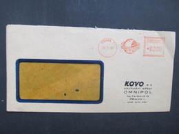 BRIEF Praha1 Omnipol 1950 Frankotype Freistempel Postfreistempel /// N2839 - Briefe U. Dokumente