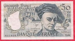 """50 Francs """"Quentin De La Tour"""" 1991 Série T.64---- XF/SUP+ - 1962-1997 ''Francs''"""