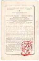 DP Notaris August Adolf Steverlynck ° Ingelmunster 1823 † Diksmuide 1876 X Marie V. Bouten - Images Religieuses