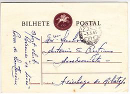 Portugal -Bilhete Postal -Circulou De Santarem Para Azinhaga Do Ribatejo - Faro