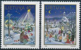 Mi 597-98 ** MNH Christmas - Lithuania