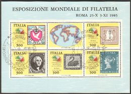 1985 Italia BF3 Foglietto I Continenti Fdc  Usato - 6. 1946-.. Repubblica