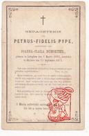 DP Petrus Fidelis Pype ° Ledegem 1803 † Geluwe Wervik 1875 X Joanna C. Dumortier - Devotion Images