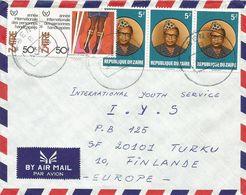 Zaire DRC Congo 1984 Beni Handicapped Year Mobutu Cover - 1980-89: Oblitérés