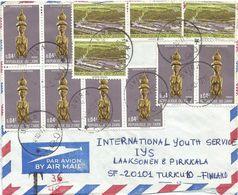 Zaire DRC Congo 1977 Uvira Statue Inga Hydrodam Electricity Taxed Cover - 1971-79: Used