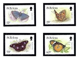 St Helena 627-30 MNH 1994 Butterflies - Sainte-Hélène
