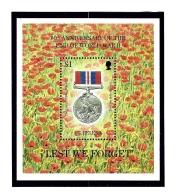 St Helena 654 MNH End Of WWI Anniv Souvenir Sheet - Sainte-Hélène
