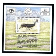 St Helena 659 MNH 1995 Invertebrates Souvenir Sheet - Sainte-Hélène