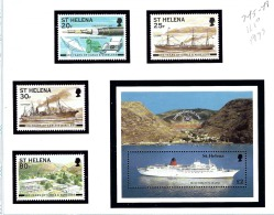 St Helena 745-49 MNH 1999 Various Ships - Sainte-Hélène
