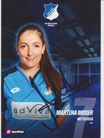 Original Women Football Autograph Card MARTINA MOSER Frauen Bundesliga 2016 / 17 TSG HOFFENHEIM - Authographs