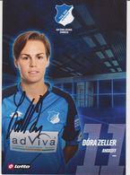 Original Women Football Autograph Card DORA ZELLER Frauen Bundesliga 2016 / 17 TSG HOFFENHEIM - Autographes