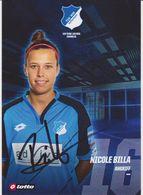 Original Women Football Autograph Card NICOLE BILLA Frauen Bundesliga 2016 / 17 TSG HOFFENHEIM - Autographes