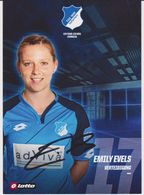 Original Women Football Autograph Card EMILY EVELS Frauen Bundesliga 2016 / 17 TSG HOFFENHEIM - Autographes