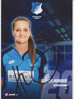 Original Women Football Autograph Card SOPHIE HOWARD Frauen Bundesliga 2016 / 17 TSG HOFFENHEIM - Autographes