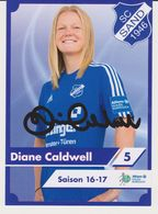 Original Women Football Autograph Card DIANE CALDWELL Frauen Bundesliga 2016 / 17 SC SAND - Autographes