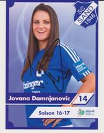 Original Women Football Autograph Card JOVANA DAMNJANOVIC Frauen Bundesliga 2016 / 17 SC SAND - Authographs