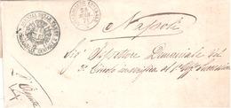 Chiaravalle Centrale. 1871. Annullo Doppio Cerchio + AGENZIA DELLE TASSE, Su Lettera In Franchigia - 1861-78 Victor Emmanuel II