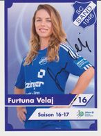 Original Women Football Autograph Card FURTUNA VELAJ Frauen Bundesliga 2016 / 17 SC SAND - Autographes