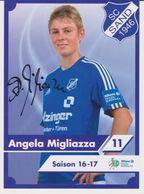 Original Women Football Autograph Card ANGELA MIGLIAZZA Frauen Bundesliga 2016 / 17 SC SAND - Autographes