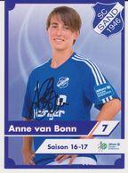 Original Women Football Autograph Card ANNE VAN BONN Frauen Bundesliga 2016 / 17 SC SAND - Autographes