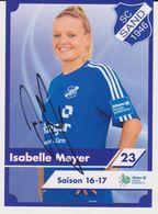 Original Women Football Autograph Card ISABELLE MEYER Frauen Bundesliga 2016 / 17 SC SAND - Autographes