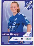 Original Women Football Autograph Card JENNY GAUGIGL Frauen Bundesliga 2016 / 17 SC SAND - Autographes