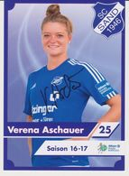 Original Women Football Autograph Card VERENA ASCHAUER Frauen Bundesliga 2016 / 17 SC SAND - Autographes