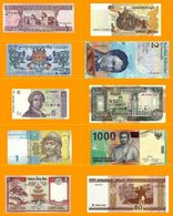 10 PCS UNC Different World Banknotes 10 Countries - Coins & Banknotes