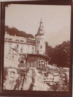 Photo Originale Albuminée 1906 :Axenstein   (Suisse)  Park Hôtel - Lieux