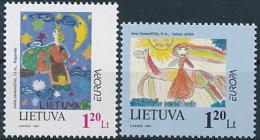 Mi 636-37 ** MNH CEPT Europa Tales & Legends Children's Drawings - Lithuania