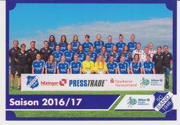 Original Women Football Card - Frauen Bundesliga 2016 / 17 - Team SC SAND - Soccer