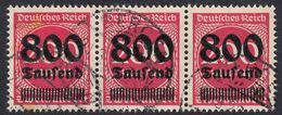 ALLEMAGNE -  DEUTSCHLAND - GERMANIA - 1923 - Tre Valori Yvert 275 Uniti Fra Loro, Obliterati. - Germania