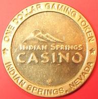 $1 Casino Token. Indian Springs Casino, Indian Springs, NV. J04. - Casino