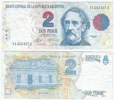 Argentina 2 Pesos 1992 Pick 340.a Ref 124-2 - Argentina