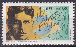 Brasilien Brasil 1990 Kunst Kultur Literatur Persönlichkeiten Schriftsteller De Sousa Andrade, Mi. 2384 ** - Brasilien
