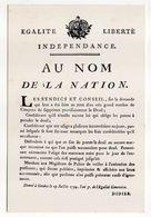 """Histoire--29 Juillet 1794--FAC-SIMILE--Affiche De Genève""""Au Nom De La Nation"""" Pendant La Période Révolutionnaire - Histoire"""