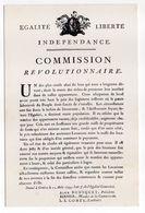 """Histoire--12 Aout 1794--FAC-SIMILE--Affiche De Genève """"Commission Révolutionnaire""""  Pendant La Période - Histoire"""