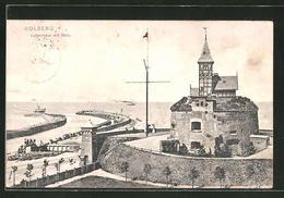 CPA Kolberg, Lotsenhaus Avec Mole - Pommern