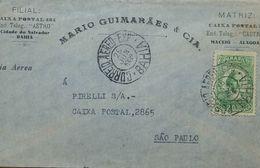 L) 1936 BRAZIL, BARTOLOMEU LOURENCO DE GUSMAO, GREEN, 2000 REIS, INVENTOR, AIR MAIL, CIRCULATED COVER IN BRAZIL, XF - Brazil