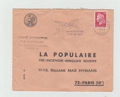 """LSC 1969 -   ST ETIENNE Flamme -  """"St Etienne A 70' De Paris """" - Marcophilie (Lettres)"""