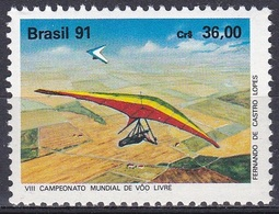 Brasilien Brasil 1991 Sport Freizeit Leisure Hobby Drachenfliegen Hang-Gliding, Mi. 2403 ** - Brasilien