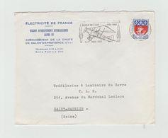 """LSC 1965 -   SALON DE PROVENCE - Flamme -  """"Ecole De L'air 1935-1965  06-07 Nov 1965 """" - Marcophilie (Lettres)"""