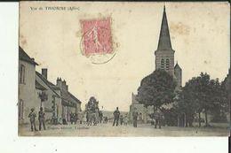 Thionne  03    Vue Sur La Place Du Village Tres Tres Animée  Et L'Eglise - France