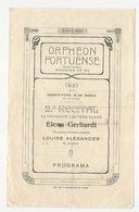 Program * Portugal * 1931 * Orpheon Portuense * 2º Recital Cantora Alemã Elena Gerhardt - Programmes
