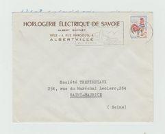 LSC Entête HORLOGERIE ELECTRIQUE DE SAVOIE - ALBERTVILLE + Flamme - Postmark Collection (Covers)