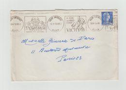 """LSC 1958 - Flamme Avec Double Dessin - VICHY (Allier) - """" La Reine Des Villes D'eau """" - Storia Postale"""