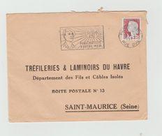 """LSC 1961 - Flamme  - """" Parachutiste D'outre Mer """" - Marcophilie (Lettres)"""